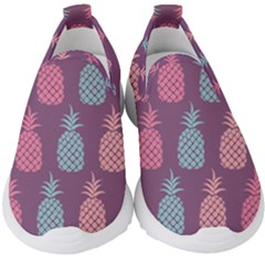 Pineapple Wallpaper Pattern 1462307008mhe Kids  Slip On Sneakers