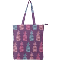 Pineapple Wallpaper Pattern 1462307008mhe Double Zip Up Tote Bag