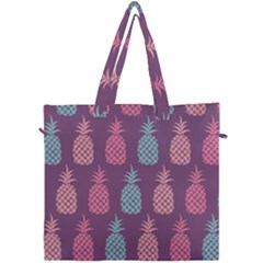 Pineapple Wallpaper Pattern 1462307008mhe Canvas Travel Bag