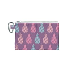 Pineapple Wallpaper Pattern 1462307008mhe Canvas Cosmetic Bag (small)