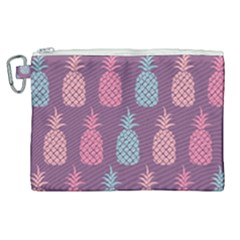 Pineapple Wallpaper Pattern 1462307008mhe Canvas Cosmetic Bag (xl)