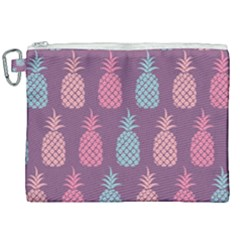 Pineapple Wallpaper Pattern 1462307008mhe Canvas Cosmetic Bag (xxl)