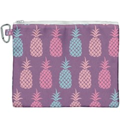 Pineapple Wallpaper Pattern 1462307008mhe Canvas Cosmetic Bag (xxxl)