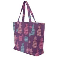 Pineapple Wallpaper Pattern 1462307008mhe Zip Up Canvas Bag