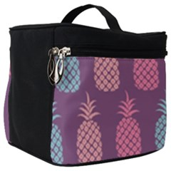 Pineapple Wallpaper Pattern 1462307008mhe Make Up Travel Bag (big)