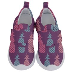 Pineapple Wallpaper Pattern 1462307008mhe Kids  Velcro No Lace Shoes