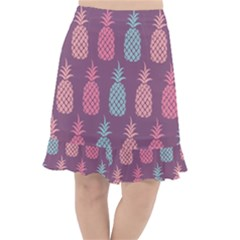 Pineapple Wallpaper Pattern 1462307008mhe Fishtail Chiffon Skirt