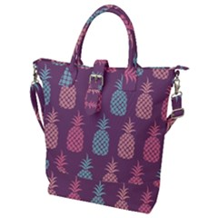 Pineapple Wallpaper Pattern 1462307008mhe Buckle Top Tote Bag