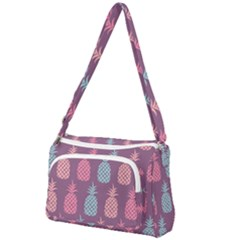 Pineapple Wallpaper Pattern 1462307008mhe Front Pocket Crossbody Bag