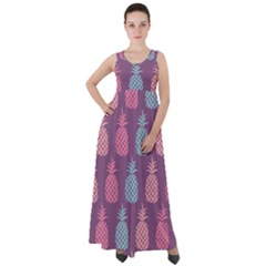 Pineapple Wallpaper Pattern 1462307008mhe Empire Waist Velour Maxi Dress