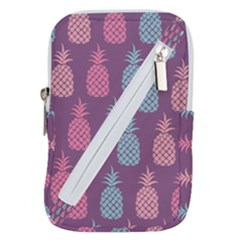 Pineapple Wallpaper Pattern 1462307008mhe Belt Pouch Bag (large)