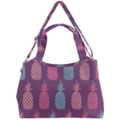Pineapple Wallpaper Pattern 1462307008mhe Double Compartment Shoulder Bag