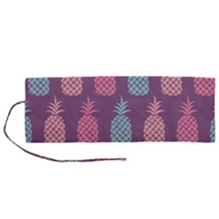 Pineapple Wallpaper Pattern 1462307008mhe Roll Up Canvas Pencil Holder (m)