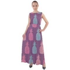 Pineapple Wallpaper Pattern 1462307008mhe Chiffon Mesh Boho Maxi Dress