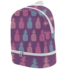 Pineapple Wallpaper Pattern 1462307008mhe Zip Bottom Backpack