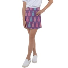 Pineapple Wallpaper Pattern 1462307008mhe Kids  Tennis Skirt