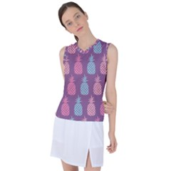 Pineapple Wallpaper Pattern 1462307008mhe Women s Sleeveless Sports Top
