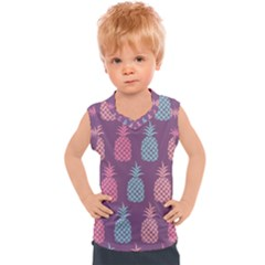 Pineapple Wallpaper Pattern 1462307008mhe Kids  Sport Tank Top