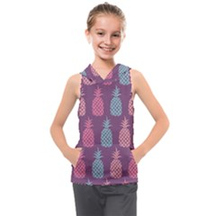 Pineapple Wallpaper Pattern 1462307008mhe Kids  Sleeveless Hoodie