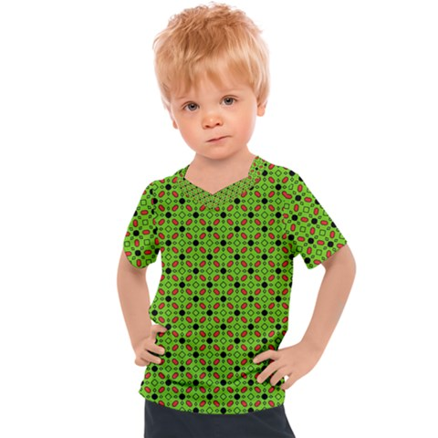 Texture Seamless Christmas Kids  Sports Tee by HermanTelo