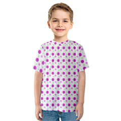 Background Flowers Multicolor Purple Kids  Sport Mesh Tee