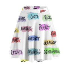 Strategy Communication High Waist Skirt
