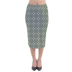 Df Rikky Frugal Velvet Midi Pencil Skirt by deformigo