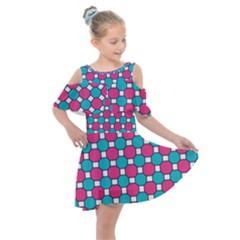 Df Hippin Whistler Kids  Shoulder Cutout Chiffon Dress by deformigo