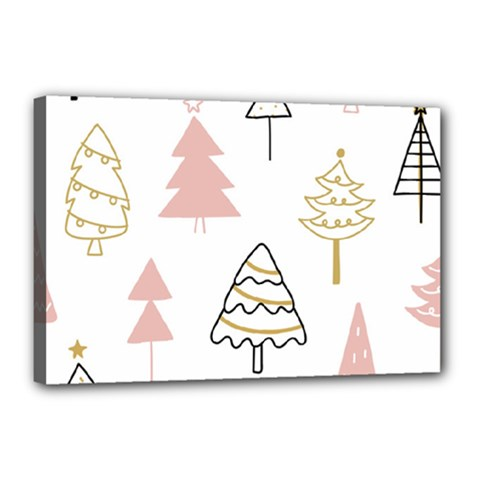 Christmas Pattern Canvas 18  X 12  (stretched)