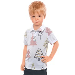 Christmas Pattern Kids  Polo Tee
