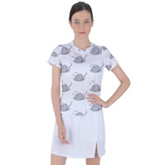 Mouse Seamless Pattern Women s Sports Top