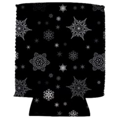 Christmas Snowflake Seamless Pattern With Tiled Falling Snow Can Holder
