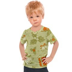 Vintage Christmas Pattern Kids  Sports Tee