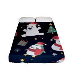 Colourful Funny Christmas Pattern Fitted Sheet (full/ Double Size)