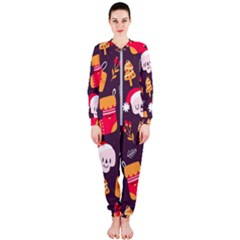 Pattern Christmas Funny Onepiece Jumpsuit (ladies)