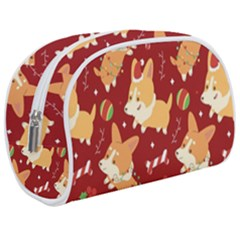 Colorful Funny Christmas Pattern Dog Puppy Makeup Case (medium)