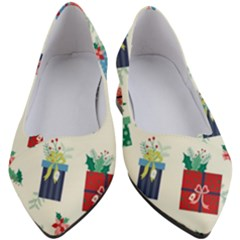 Christmas Gifts Pattern With Flowers Leaves Women s Block Heels