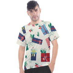Christmas Gifts Pattern With Flowers Leaves Men s Sport Top