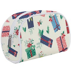 Christmas Gifts Pattern With Flowers Leaves Makeup Case (large) by Vaneshart