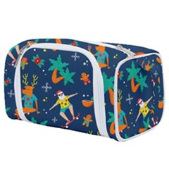 Colorful Funny Christmas Pattern Toiletries Pouch by Vaneshart