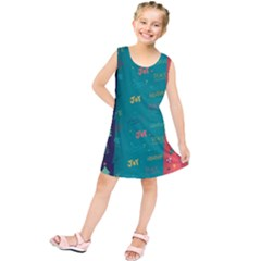 Hand Drawn Christmas Pattern Collection Kids  Tunic Dress by Vaneshart