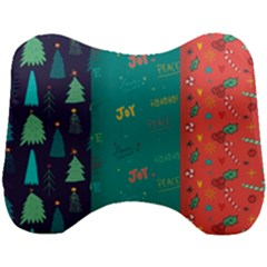 Hand Drawn Christmas Pattern Collection Head Support Cushion