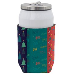 Hand Drawn Christmas Pattern Collection Can Holder by Vaneshart
