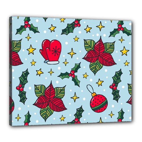 Colorful Funny Christmas Pattern Canvas 24  X 20  (stretched)