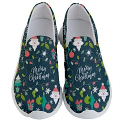 Funny Christmas Pattern Background Men s Lightweight Slip Ons
