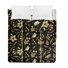 Golden Christmas Pattern Collection Duvet Cover Double Side (full/ Double Size)