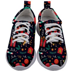Colorful Funny Christmas Pattern Kids Athletic Shoes