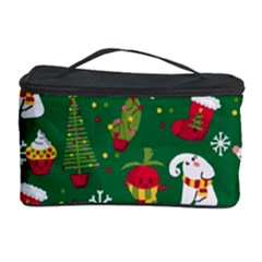 Colorful Funny Christmas Pattern Green Cosmetic Storage by Vaneshart