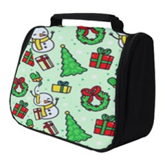 Colorful Funny Christmas Pattern Cartoon Full Print Travel Pouch (small)
