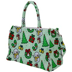 Colorful Funny Christmas Pattern Cartoon Duffel Travel Bag